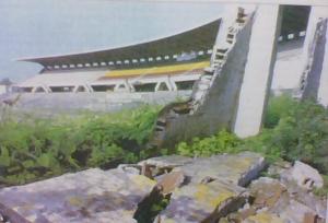 Estadio destruido