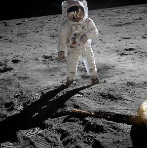 El hombre en la luna (Buzz Aldrin)