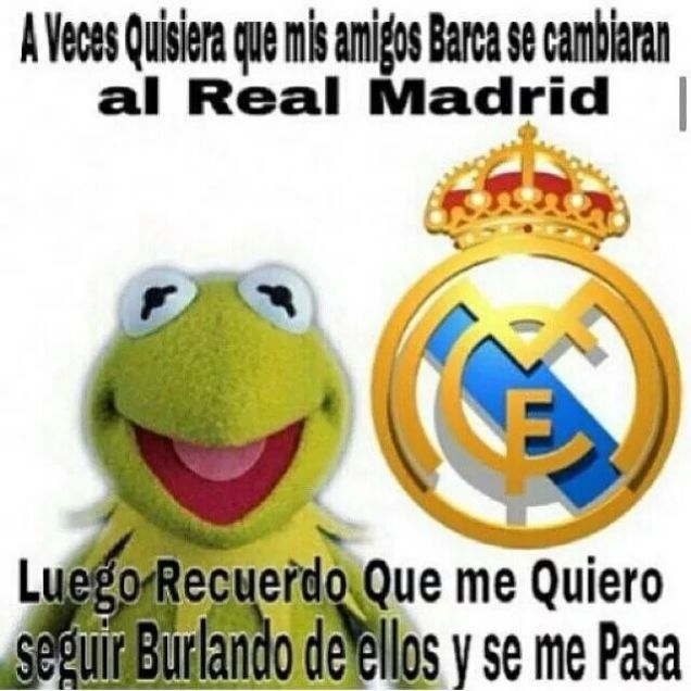Meme Clasico Barcelona Real Madrid..