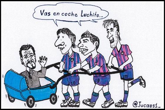 Luis Enrique, vas en coche!