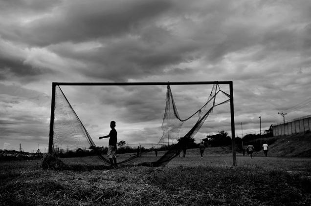 Vieja arqueria de futbol